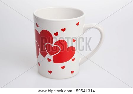White Cup With Red Heart
