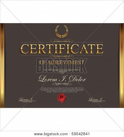 Brown certificate template
