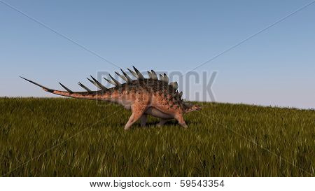 walking kentroaurus