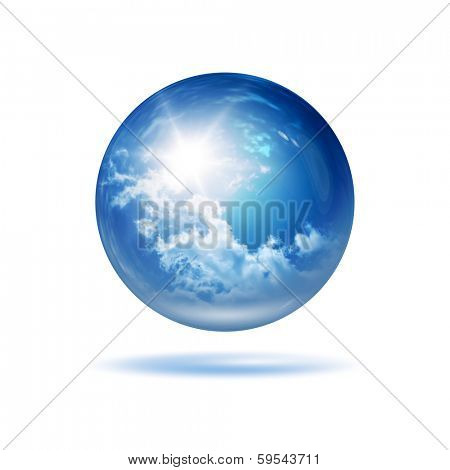 An image of a stylish weather glass orb