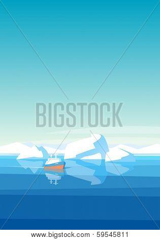 Arctic landscape background