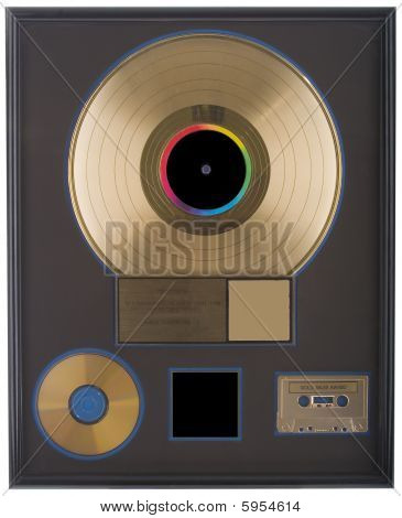 Authentic Gold Record With Blank Space
