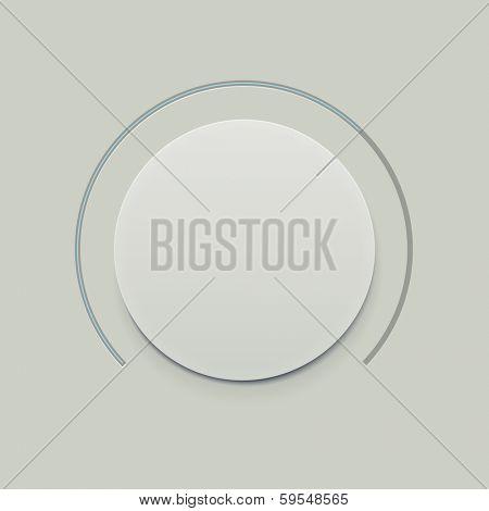 Flat Minimalistic Dial knob