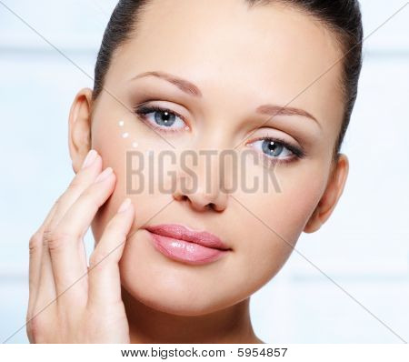 Beautiful Woman Face With Healthy Skin