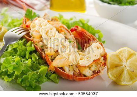 lobster with mayonnaise sauce
