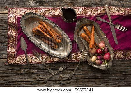 Grilled Sweet Nantes Carrots