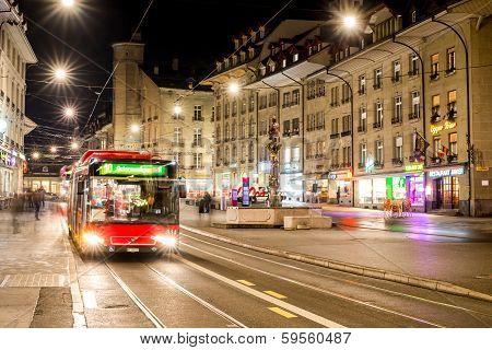 Bus on street