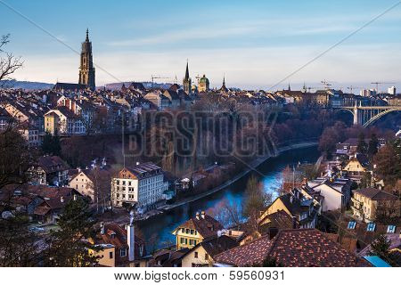 Bern old city view