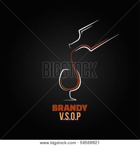 brandy glass bottle splash design background