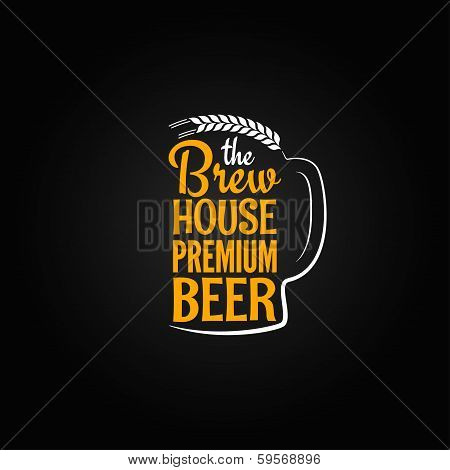 beer bottle glass house design menu background