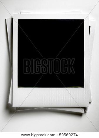 Polaroid Film Vintage empty photo cards on white