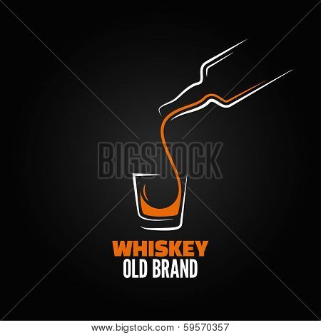 whiskey glass bottle shot splash menu background