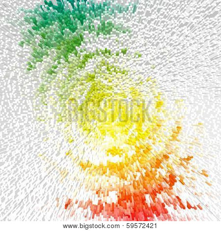 Abstract multicolor radiate outburst. Illustration.