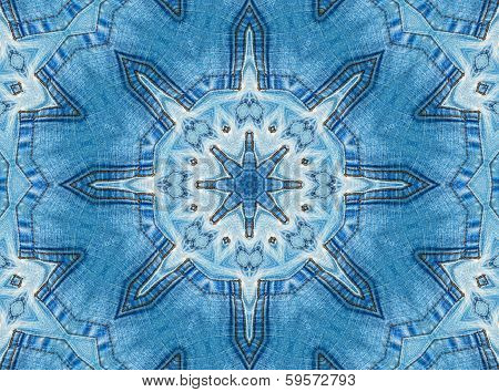 Abstract Jeans Pattern