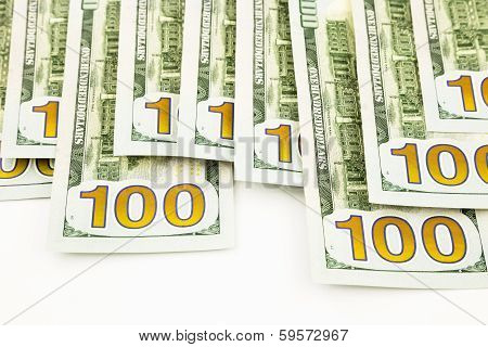 New Edition 100 Dollar Banknotes, Money For Funds And Profits Concept