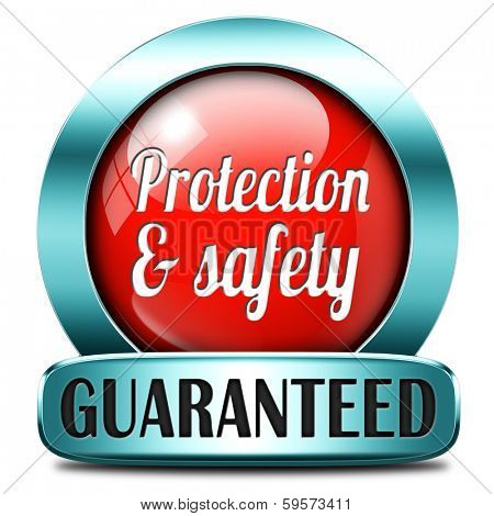 protection and safety first red label or sign protect data privacy and personal info security guaranteed
