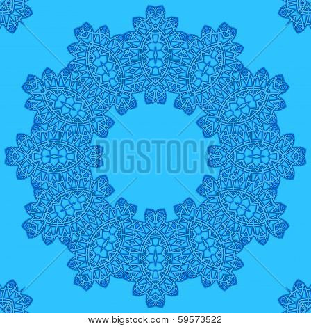 Abstract Pattern On Blue