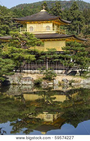 Kinkakuji The Golden Pavillion. Kyoto. Japan