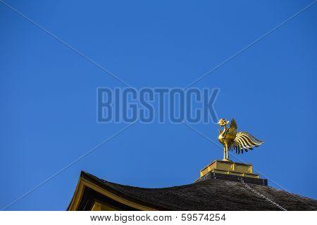 Phoenix On Top Of Kinkakuji The Golden Pavillion. Kyoto. Japan