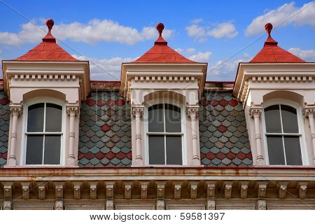 Charleston Mansard Roof and Windows