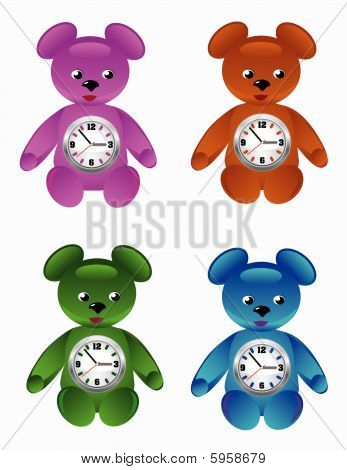 Teddy Bear  Desktop Clock