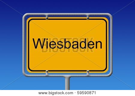City Sign Wiesbaden
