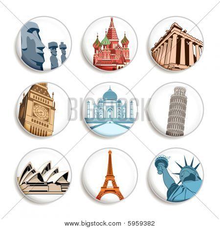 Travel destination badges