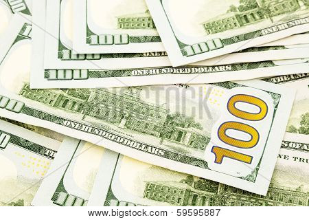 New Edition 100 Dollar Banknotes, Money  For Credit  And Benefit Concept