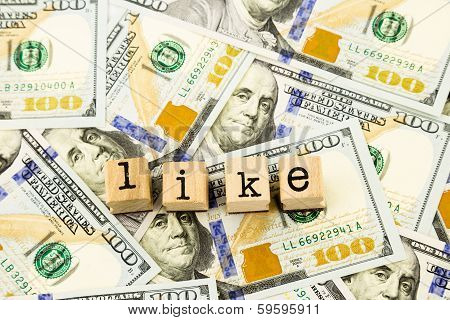 Like Wording On Money Dollar Banknotes