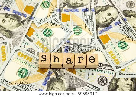 New Edition 100 Dollar Banknotes, Money For Share And Donation Concept
