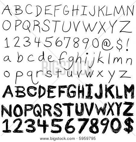 Coleção alfabeto manuscrito