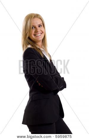 jung lächelnd Business-Frau