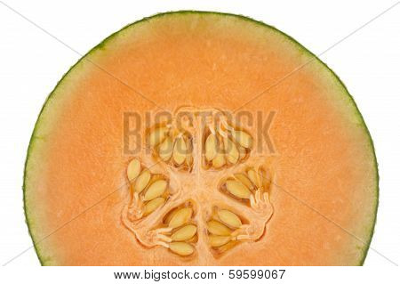 Half A Honeydew Melon Isolated