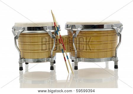 Bongo Set With Drum Sticks
