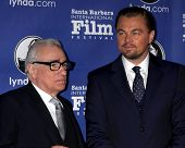 SANTA BARBARA - FEB 6:  Martin Scorsese, Leonardo DiCpario at the Santa Barbara International Film F