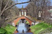 picture of tsarskoe  - decorative bridge in Chinese style in Tsarskoe Selo near St - JPG