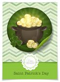 stock photo of pot gold  - Greeting Card Design - JPG