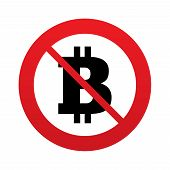 picture of bitcoin  - No Bitcoin sign icon - JPG