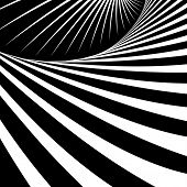 Abstract op art background. Illustration.