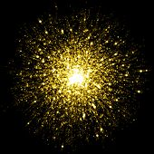 image of starry  - Gold sparkle glitter background - JPG