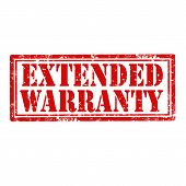 picture of extend  - Grunge rubber stamp with text Extended Warranty - JPG