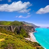 pic of bixby  - California Bixby bridge in Big Sur in Monterey County along State Route 1 US - JPG