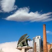 stock photo of reino  - Valencia Pont del Regne reino bridge guardian gargoyles los guardianes del puente - JPG