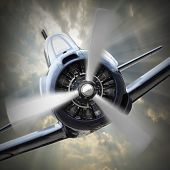 pic of fighter plane  - Dramatic scene on the sky - JPG