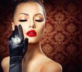 pic of vintage jewelry  - Beauty Fashion Glamour Girl Portrait - JPG