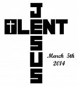 stock photo of lent  - lent cross icon with the 2014 ash wednesday date shown - JPG