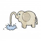 cartoon elephant squirting water