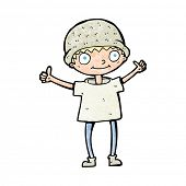 foto of attitude boy  - cartoon boy with positive attitude - JPG