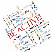 Be Active! Word Cloud Concept Angled