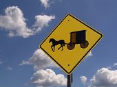 picture of mennonite  - road sign  - JPG